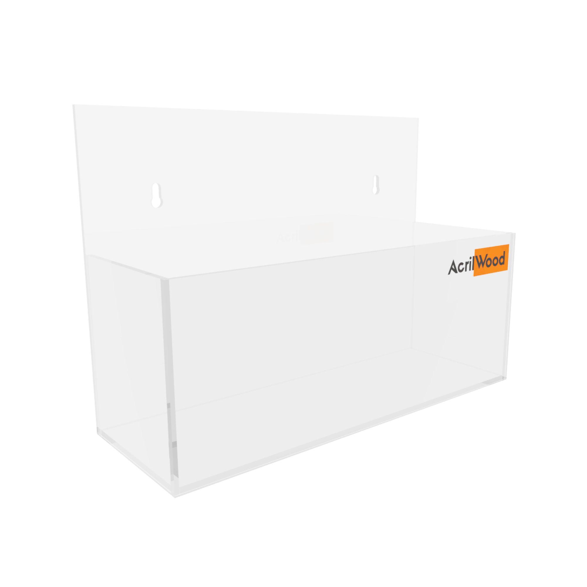 Display Porta Folder A6 Em Acrílico De Parede Horizontal