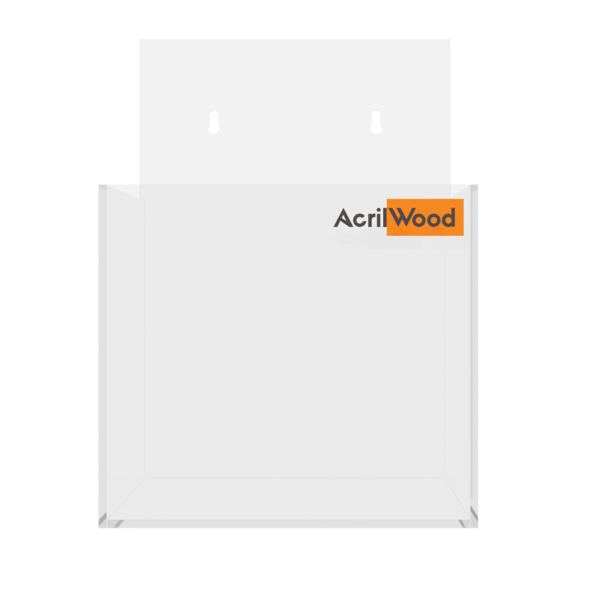 Display Porta Folder A6 Em Acrílico De Parede Vertical