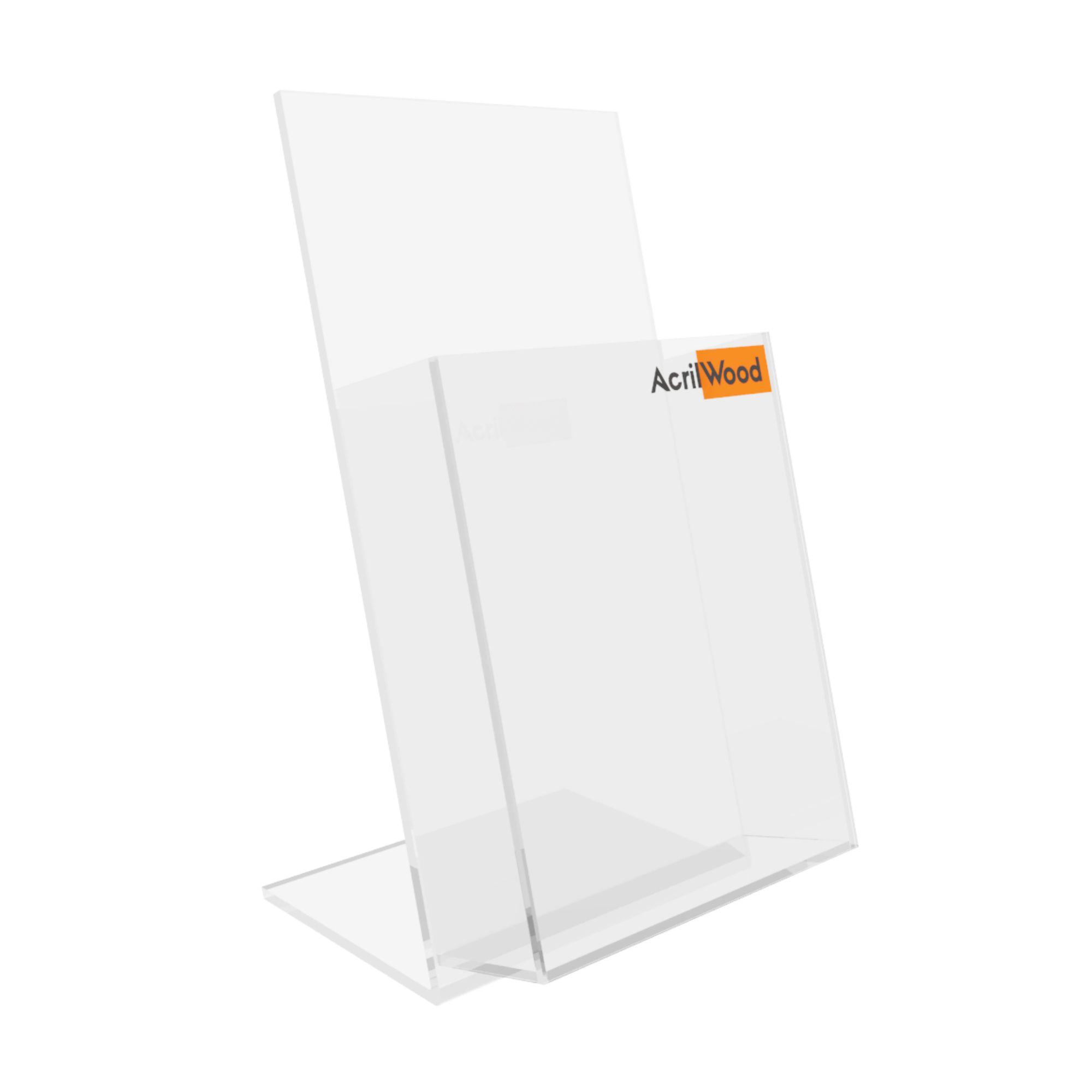 Display Porta Folder Em Acrílico De Balcão - 10x20cm