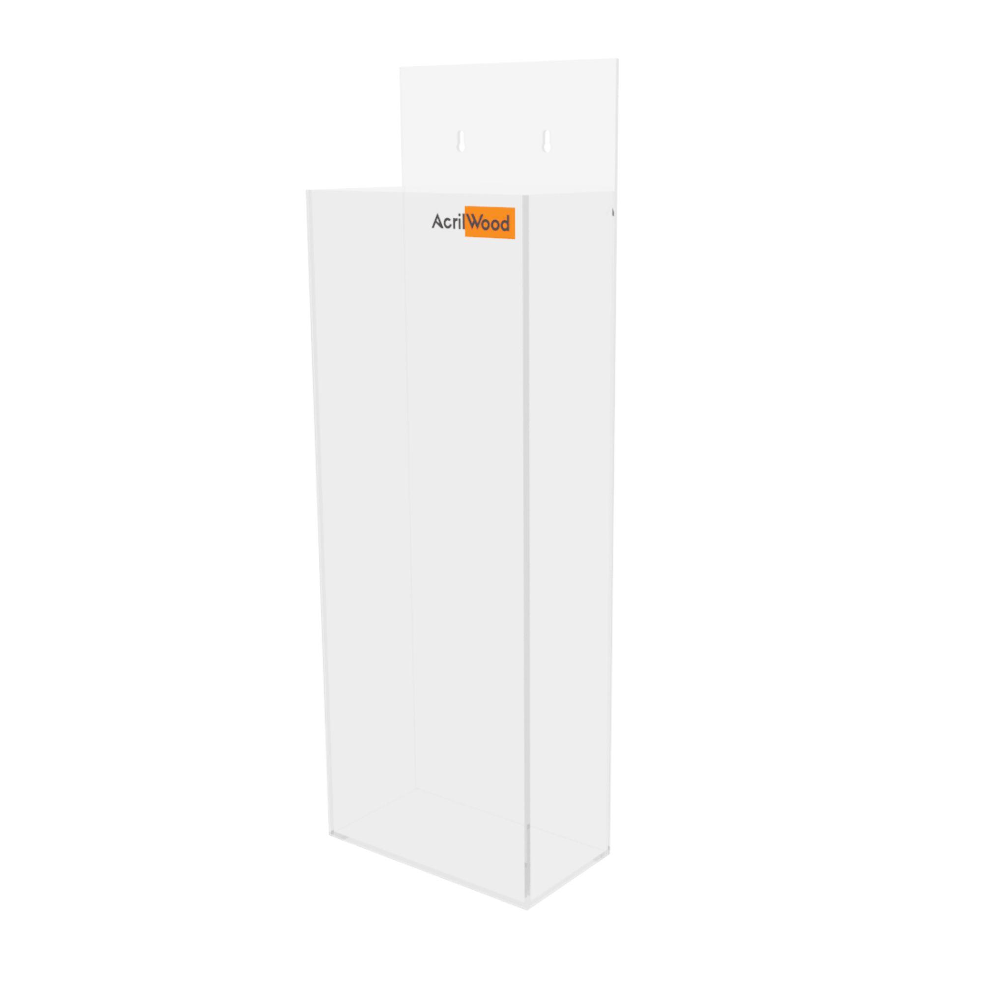 Display Porta Folder Em Acrílico De Parede - 10x30cm