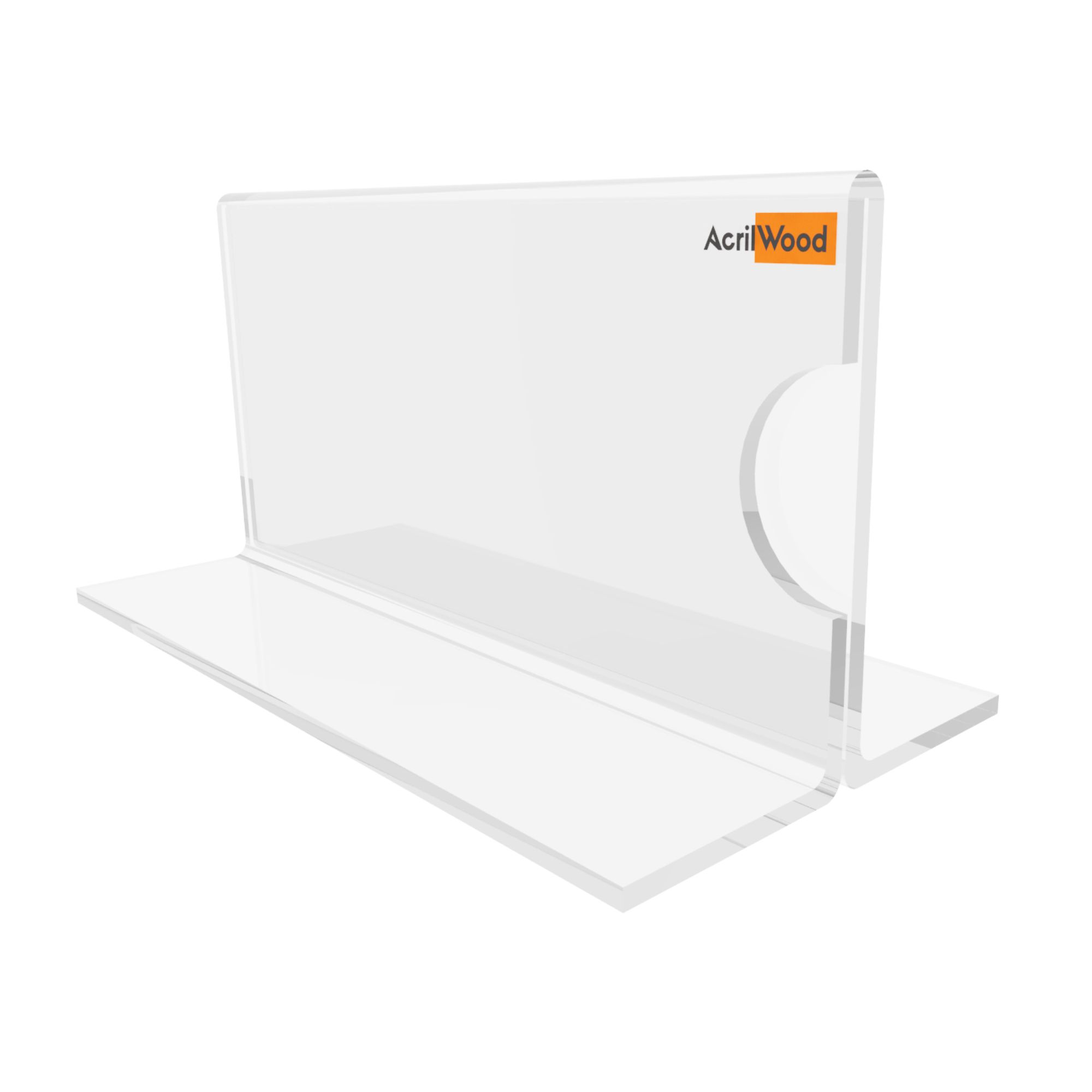 Display Precificador Em Acrílico Em T - 10x5cm