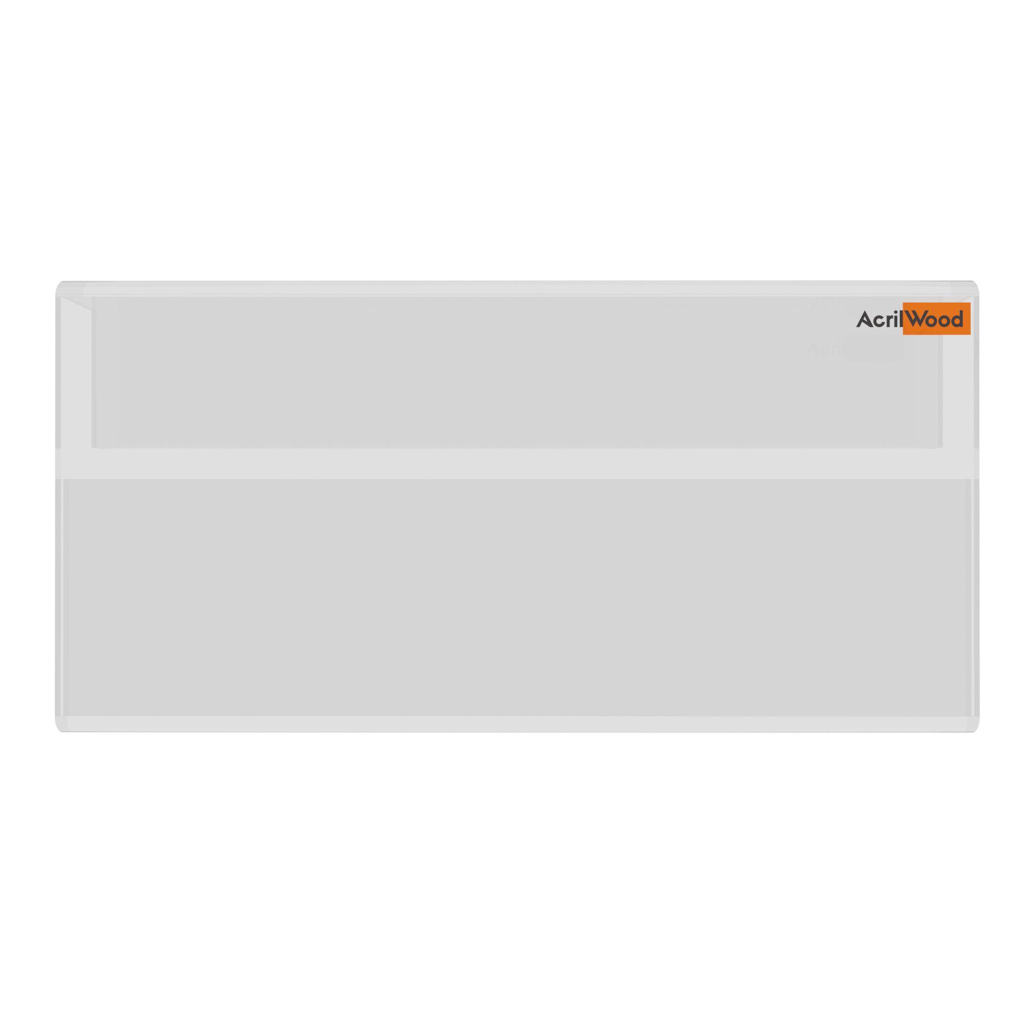 Display Precificador Em Acrílico Em U Para Vidro - 10x5cm