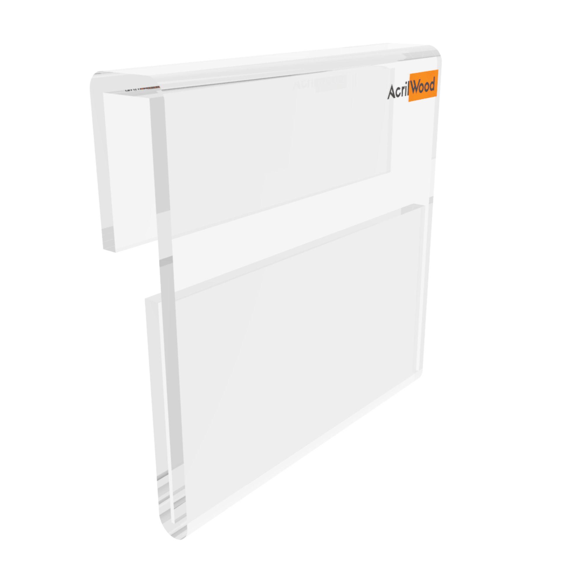 Display Precificador Em Acrílico Em U Para Vidro - 5x5cm
