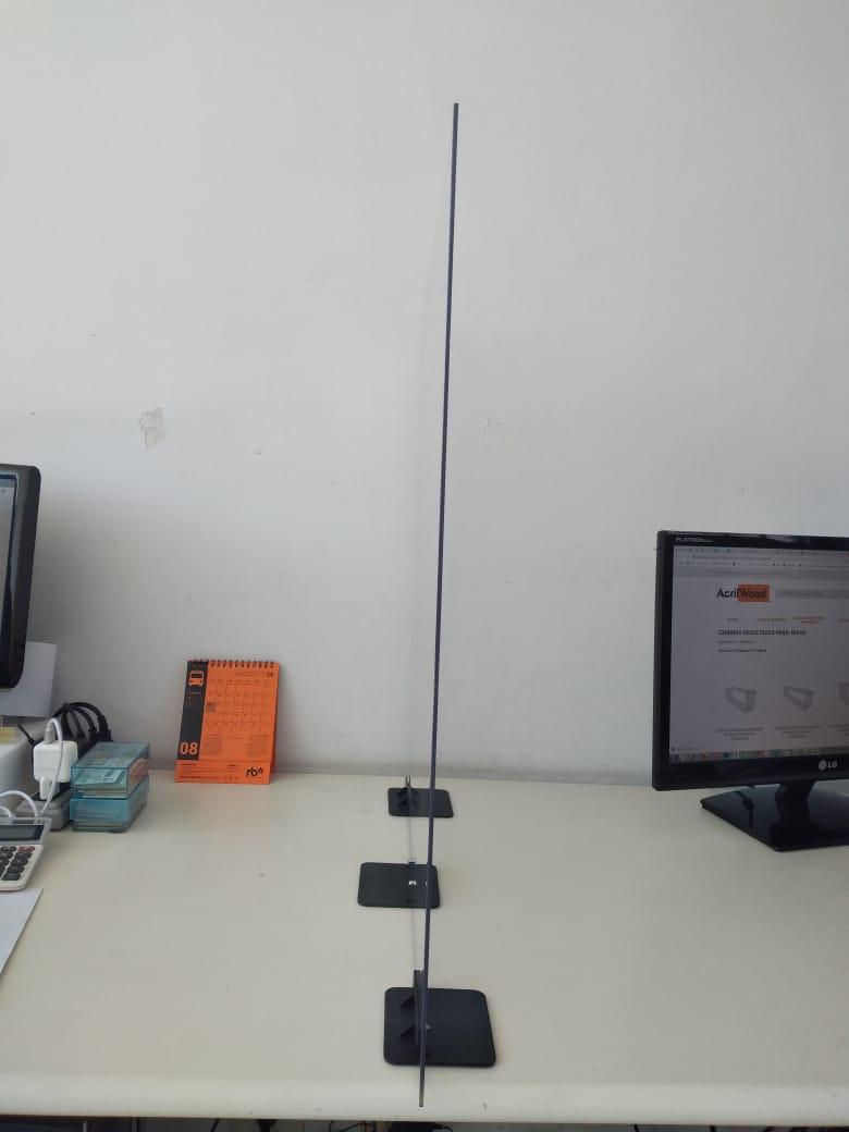 Divisória de Mesa c/ Base 120x60cm