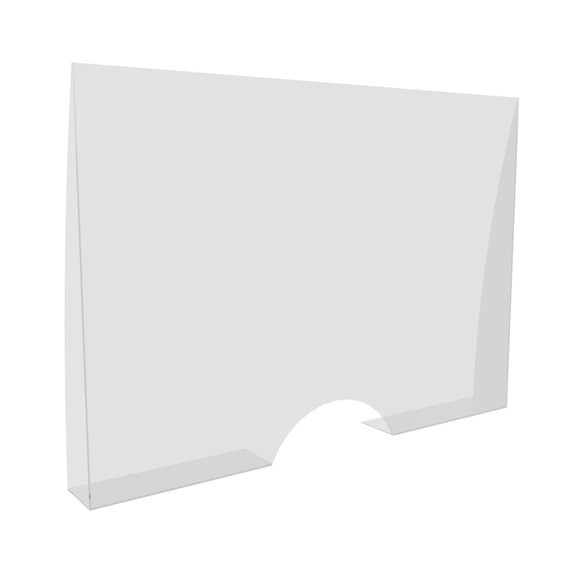 Escudo Protetor Salivar Balcão Com Aba Lateral 90x70cm