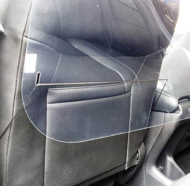 Escudo Protetor Salivar Uber E Taxi 105x80cm