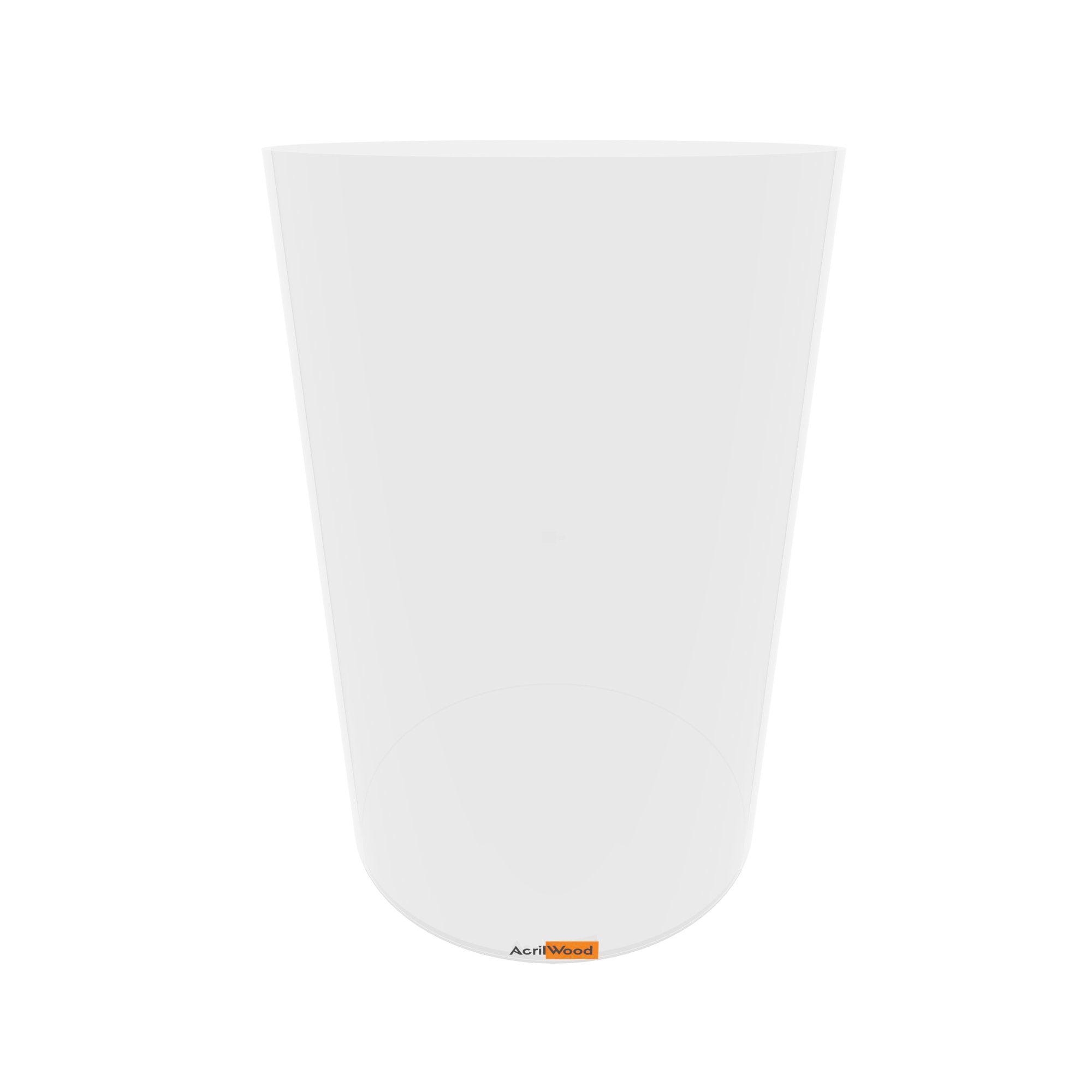 Pote Redondo Em Acrílico Cristal Para Alimentos - 20x30cm