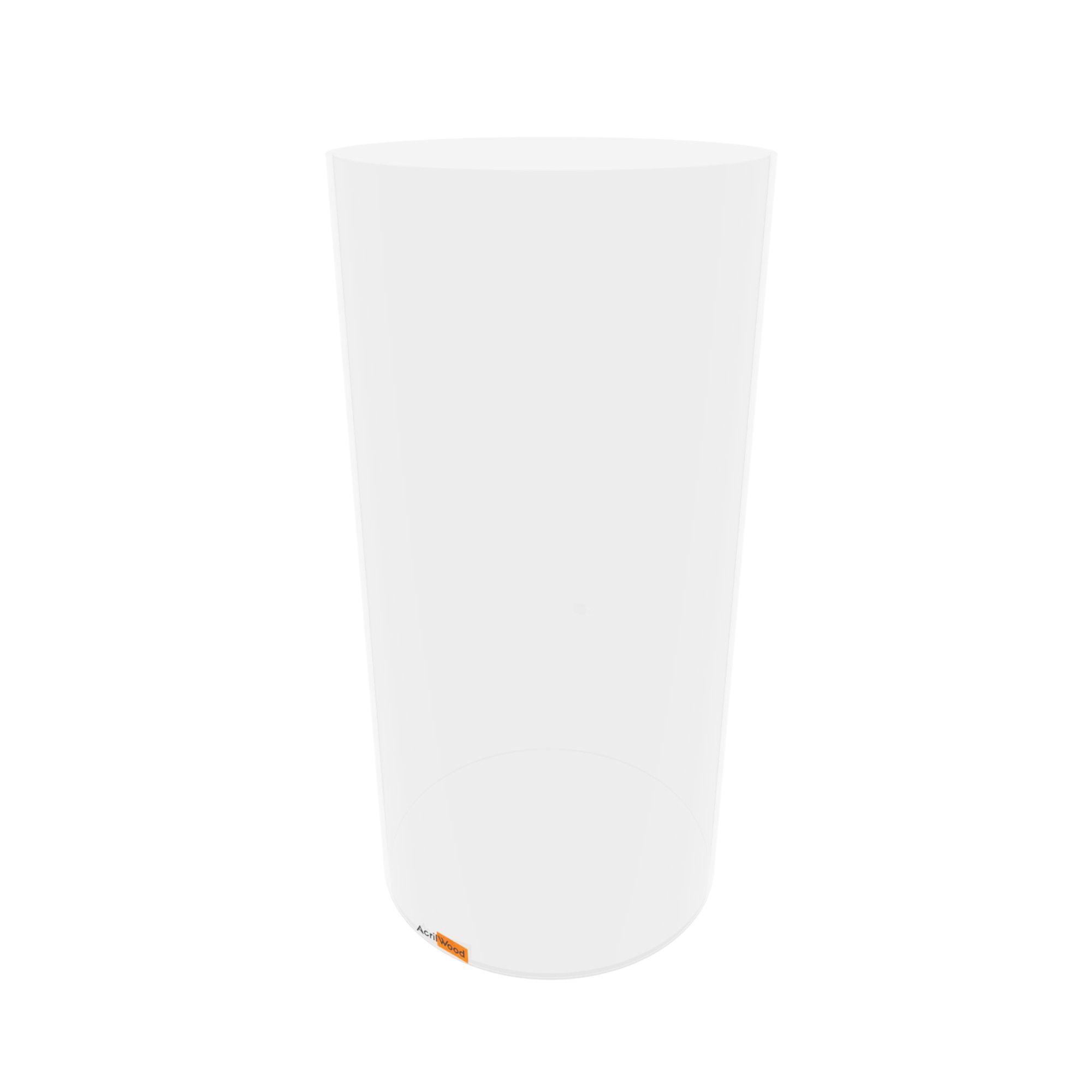 Pote Redondo Em Acrílico Cristal Para Alimentos - 20x40cm