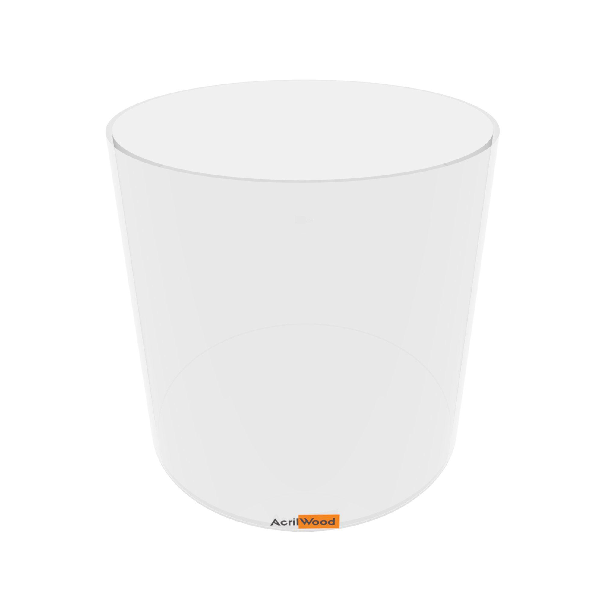 Pote Redondo Em Acrílico Cristal Para Alimentos - 25x25cm