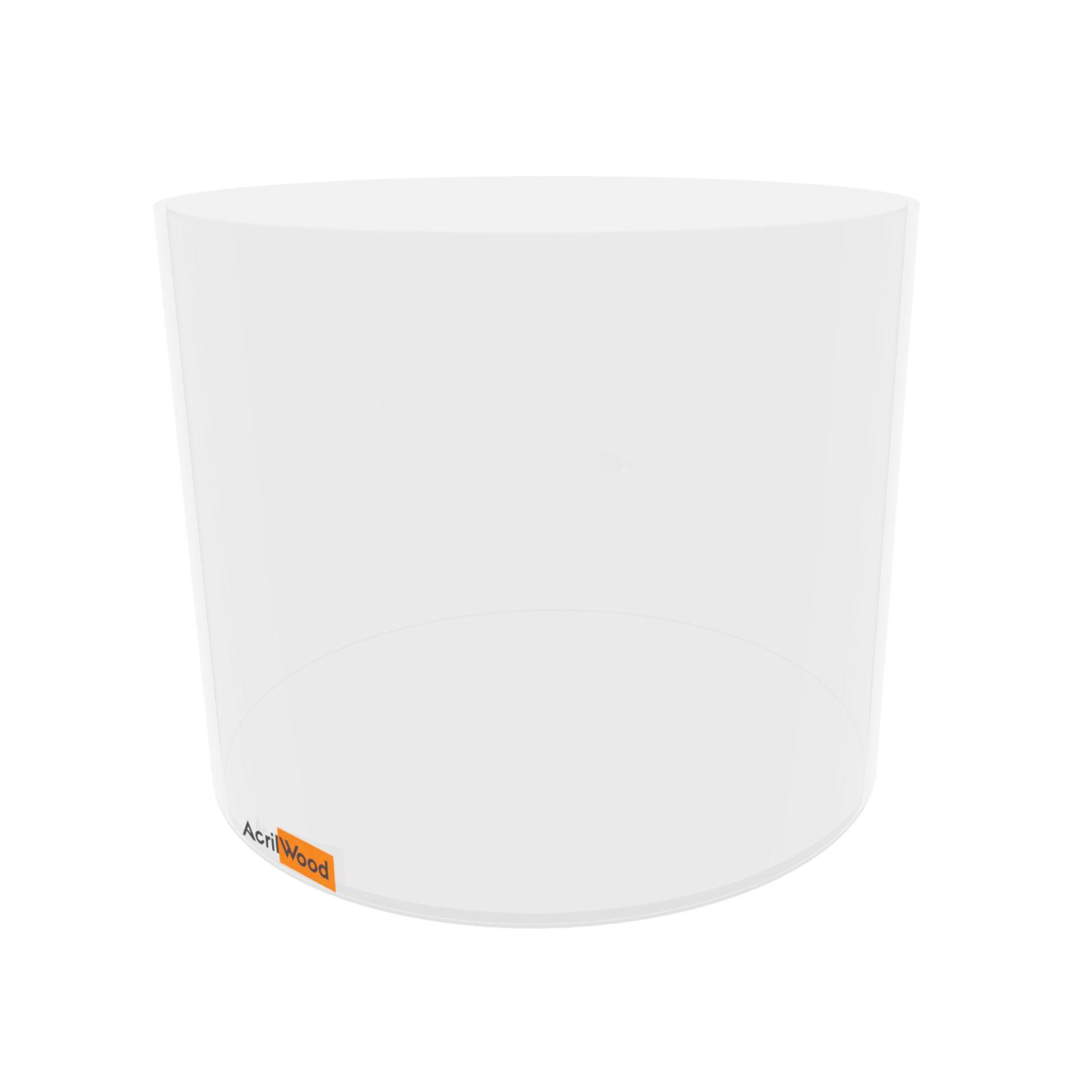 Pote Redondo Em Acrílico Cristal Para Alimentos - 30x25cm