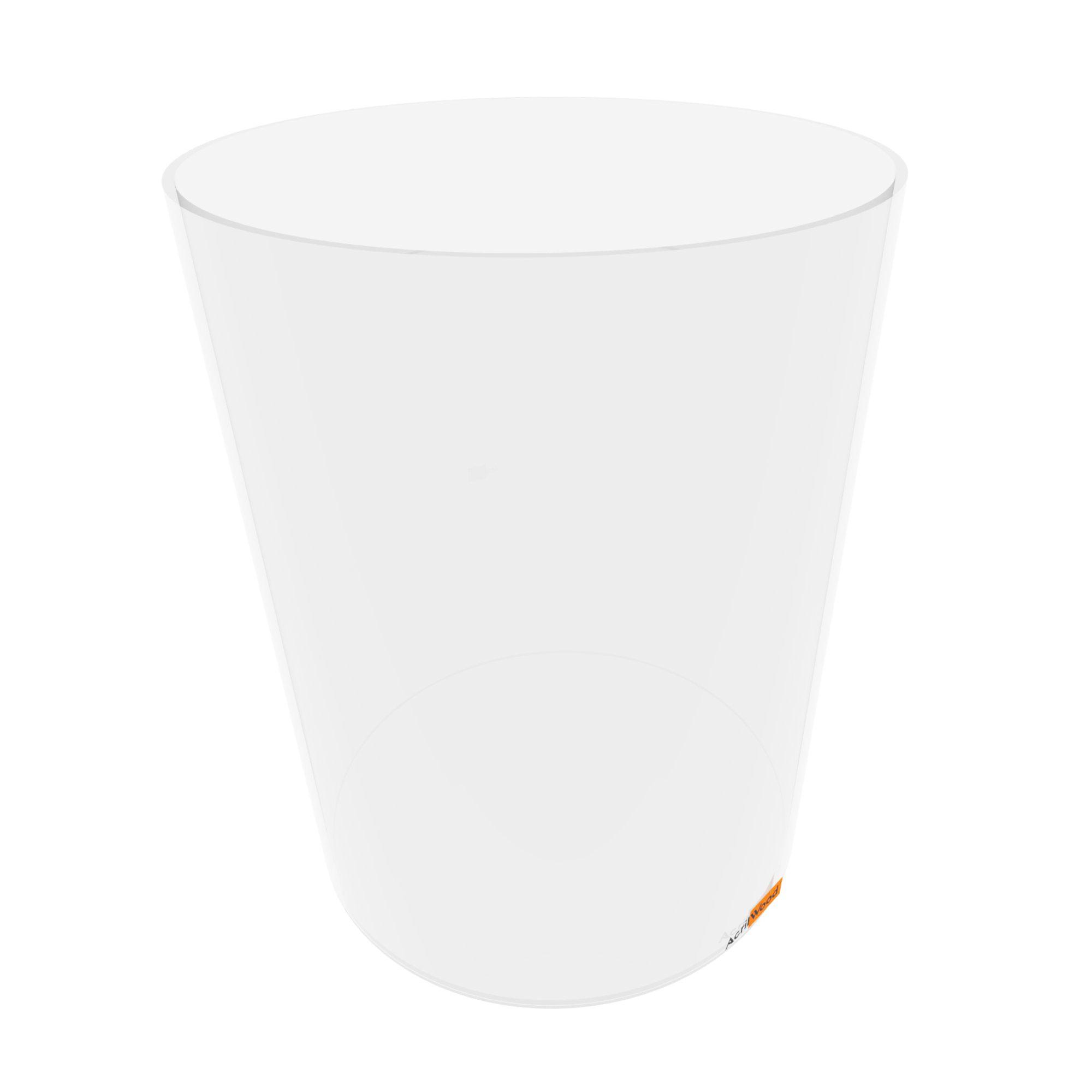 Pote Redondo Em Acrílico Cristal Para Alimentos - 30x40cm