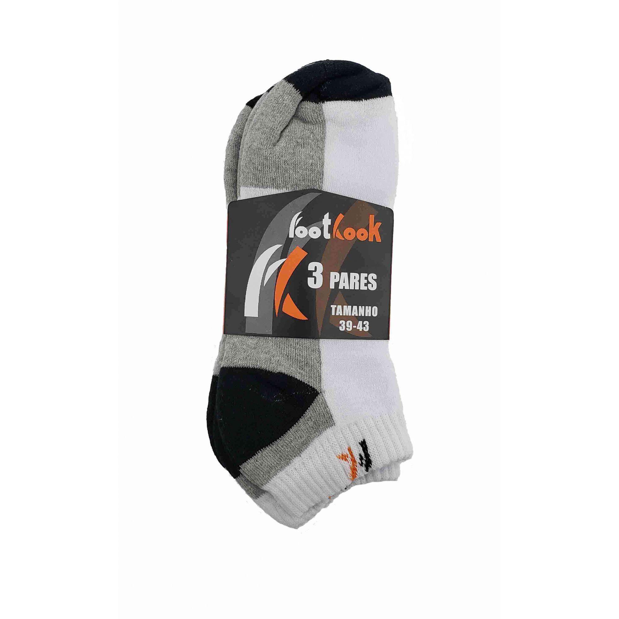 KIT COM 3 MEIAS FOOTLOOK FL04LY CURTA 39 A 43