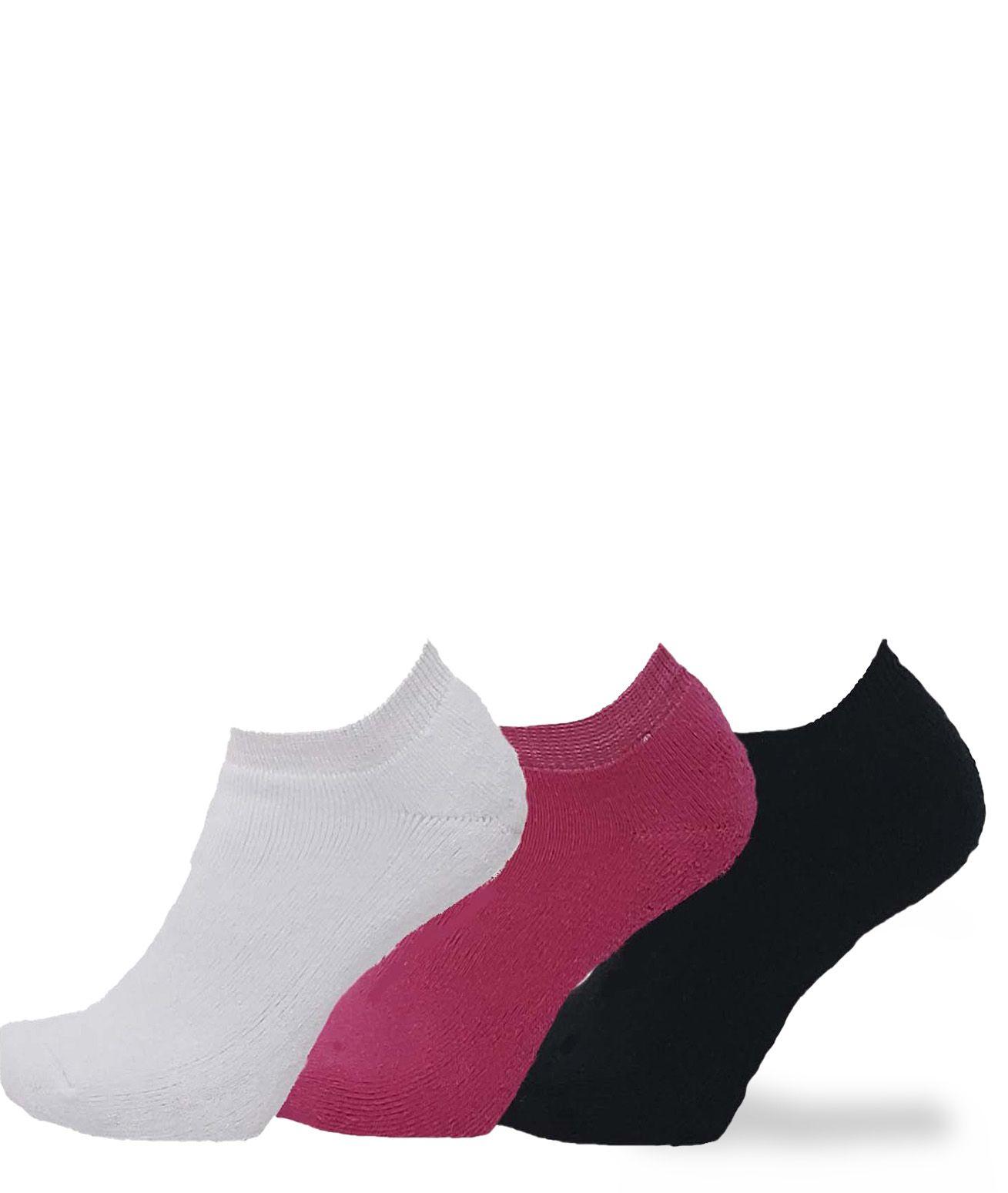 KIT COM 3 MEIAS SAPATILHAS FOOTLOOK 34/38