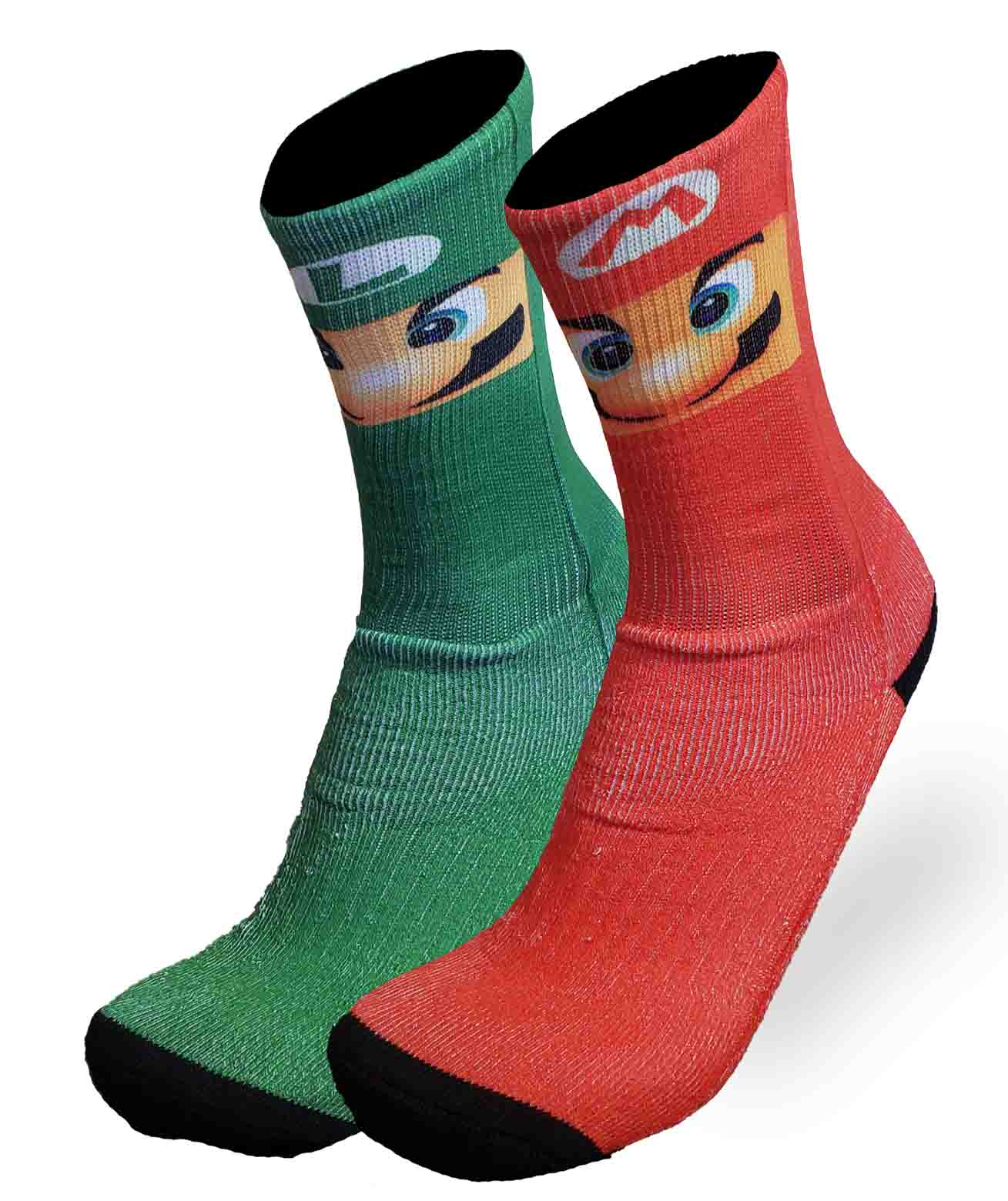 MEIA DIVERTIDA MARIO BROS FOOTLOOK 39/43