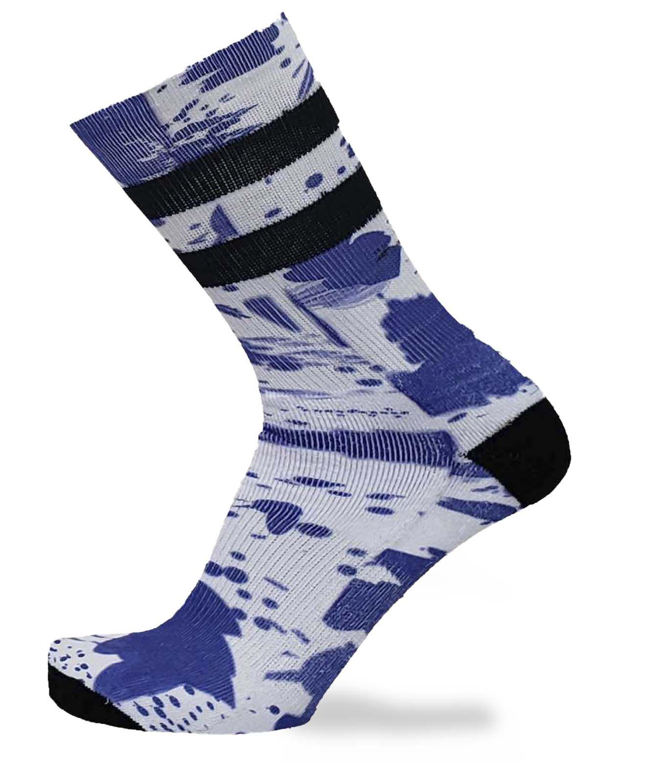 MEIA FOOTLOOK SPLASH BLUE 39/43