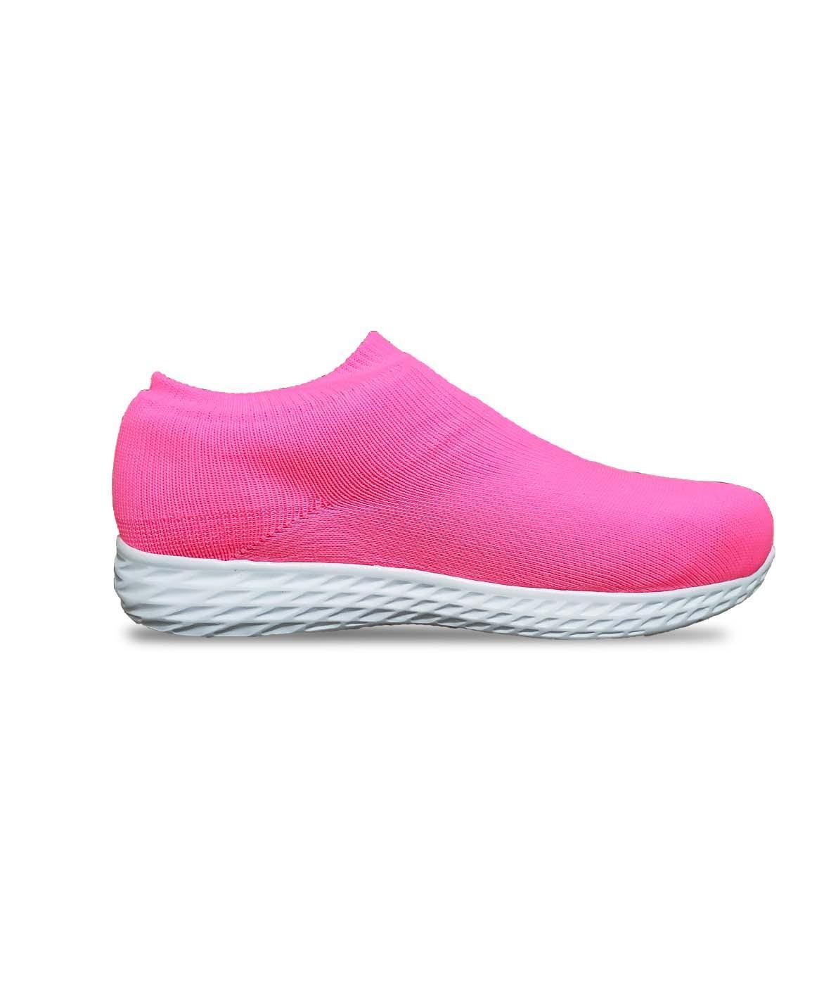 Tênis Footlook knit feminino cor rosa pink coleção ALEGRIA