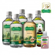 Kit 4 uni. Tradicional 500ml+ 1uni. Romã 500+ 1uni. Spray 6 em 1 + 1uni. Gel Flower