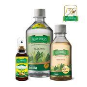 Kit Água Rabelo Tradicional 500ml + Gengibre 150ml + Spray 6 em 1