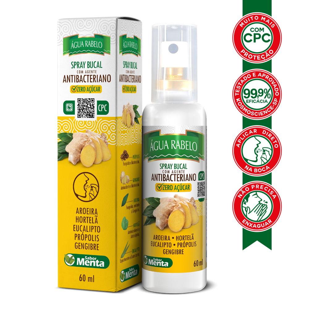 Spray Bucal Antibacteriano de Gengibre com CPC 60 ml