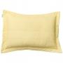 Porta Travesseiro Percal 200 Fios Listras Amarelo Claro