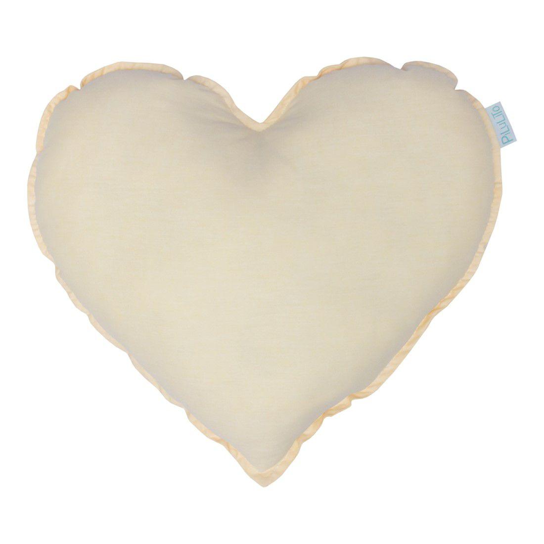 Almofada coração amarelo suave
