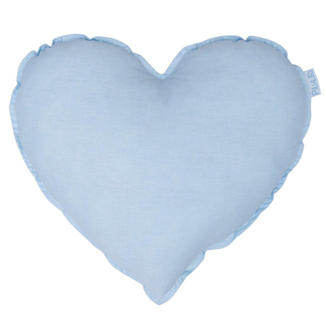 Almofada coração azul céu