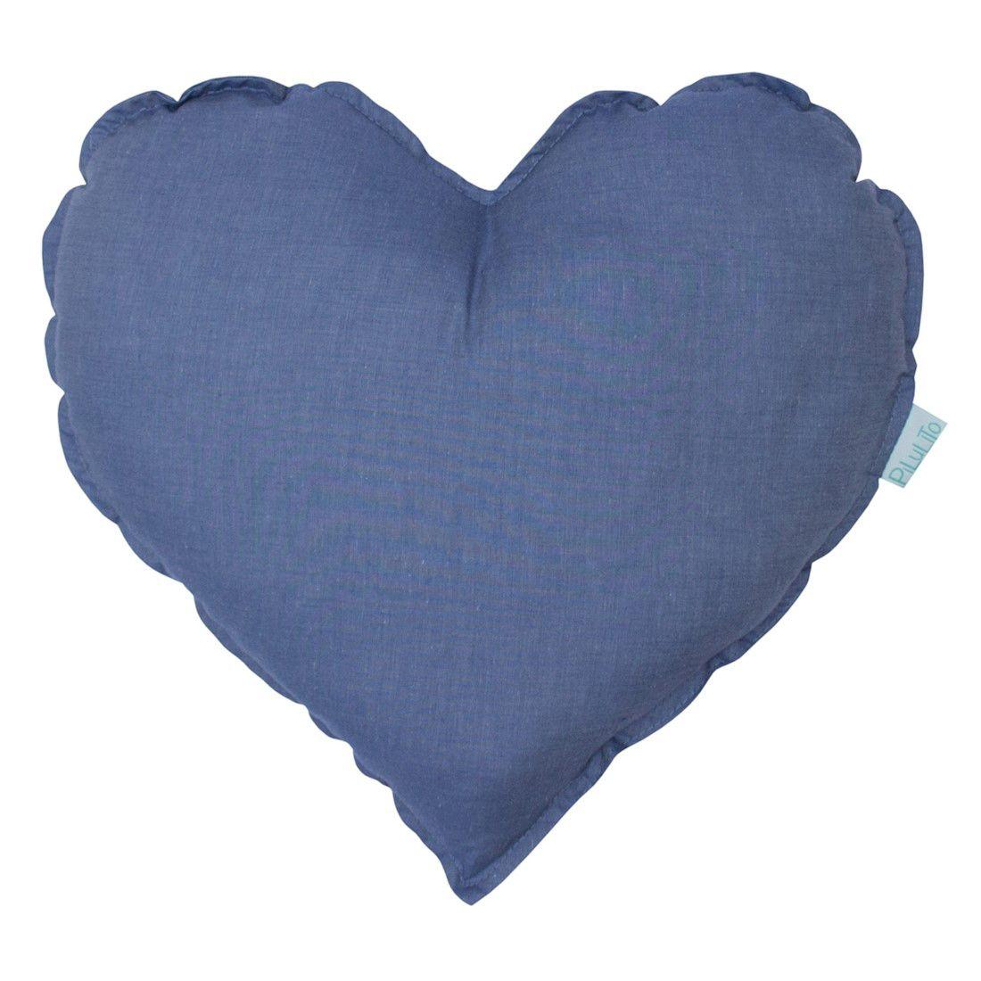 Almofada coração azul jeans