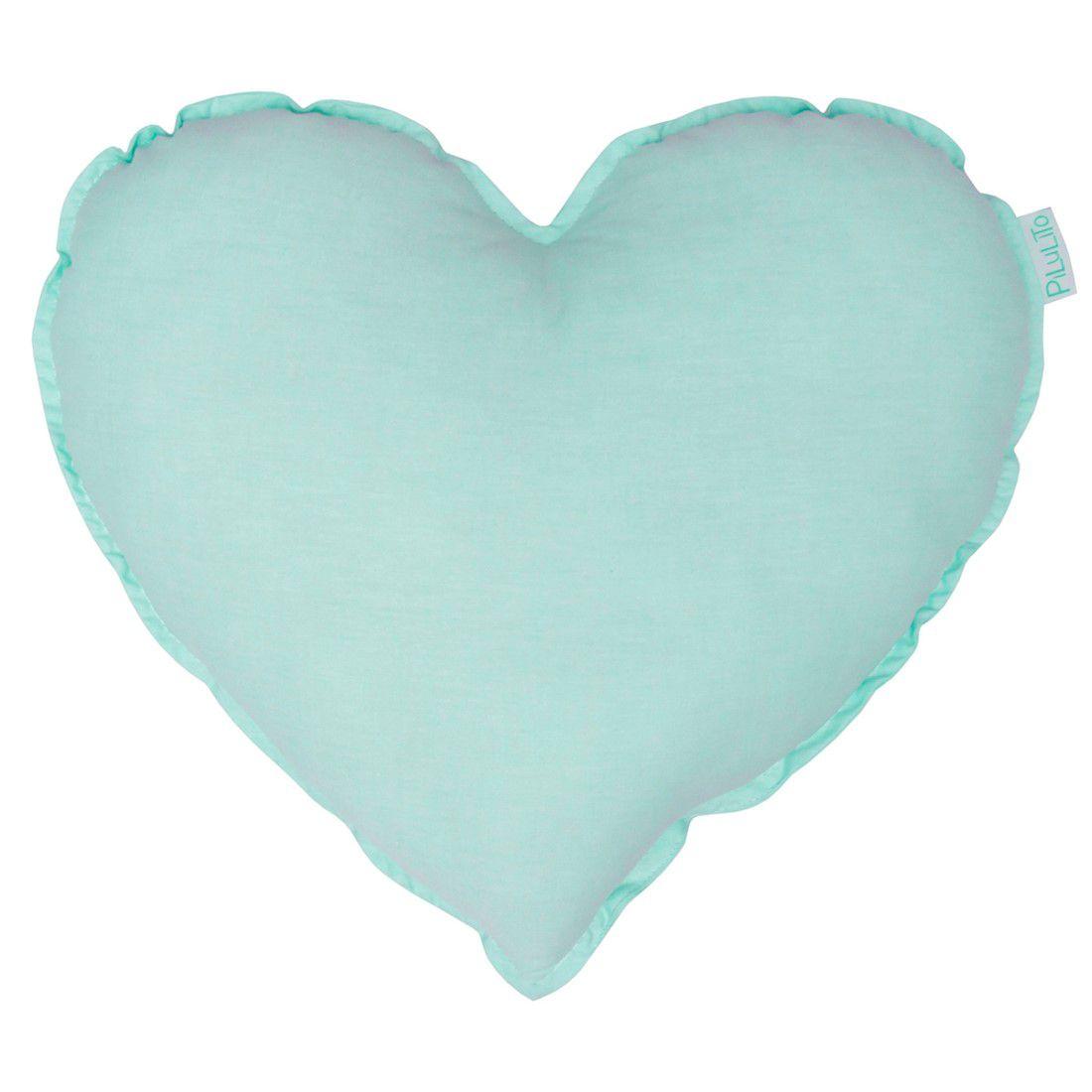 Almofada coração hortelã suave