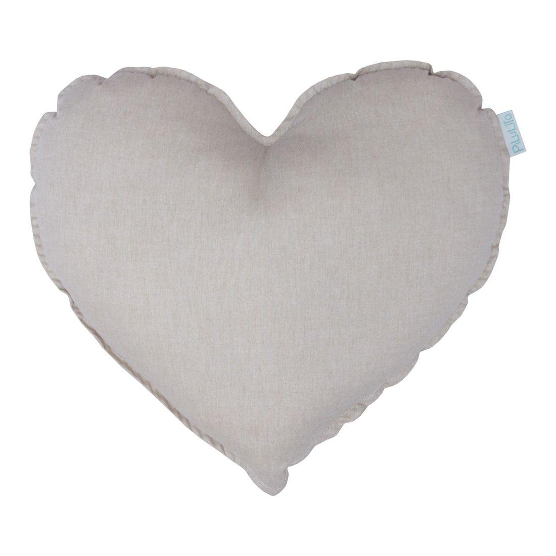 Almofada coração linho