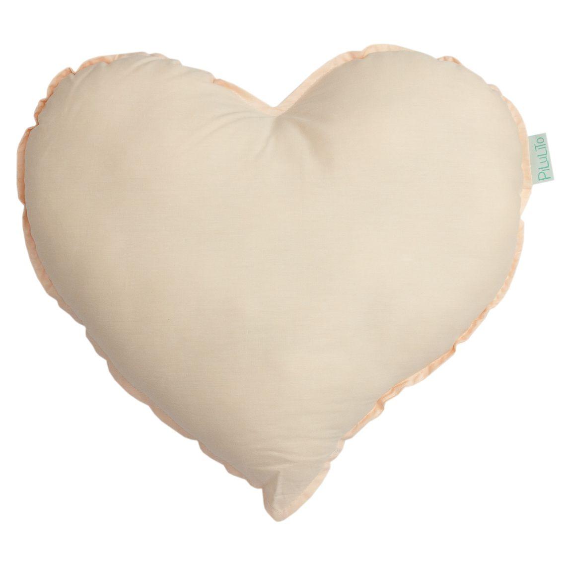 Almofada coração salmão suave