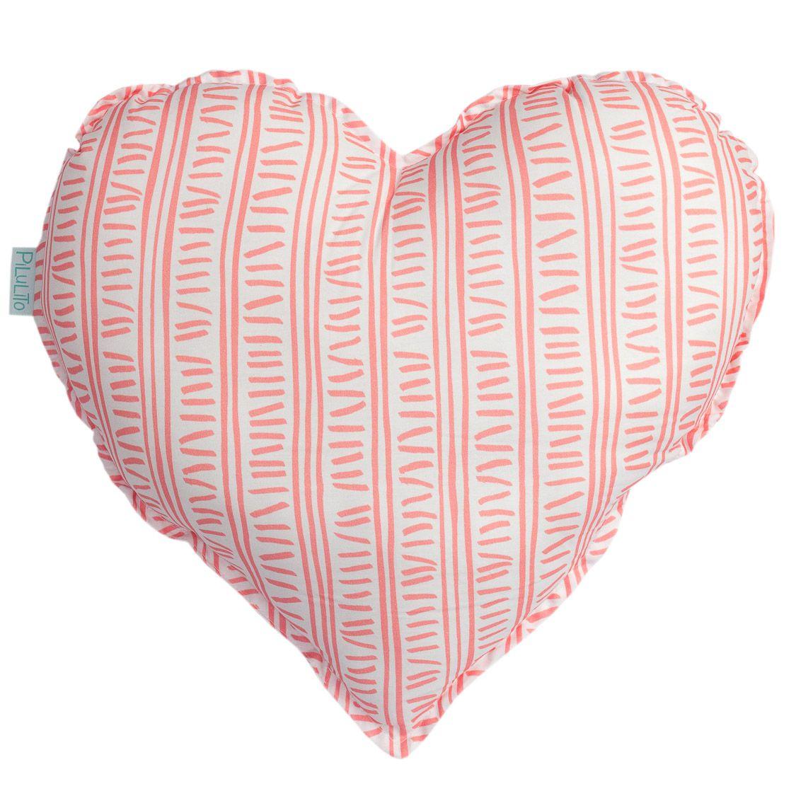 Almofada coração trilha rosa