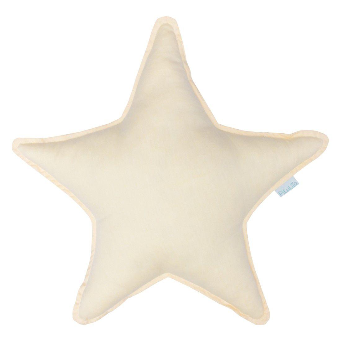 Almofada estrela amarelo suave