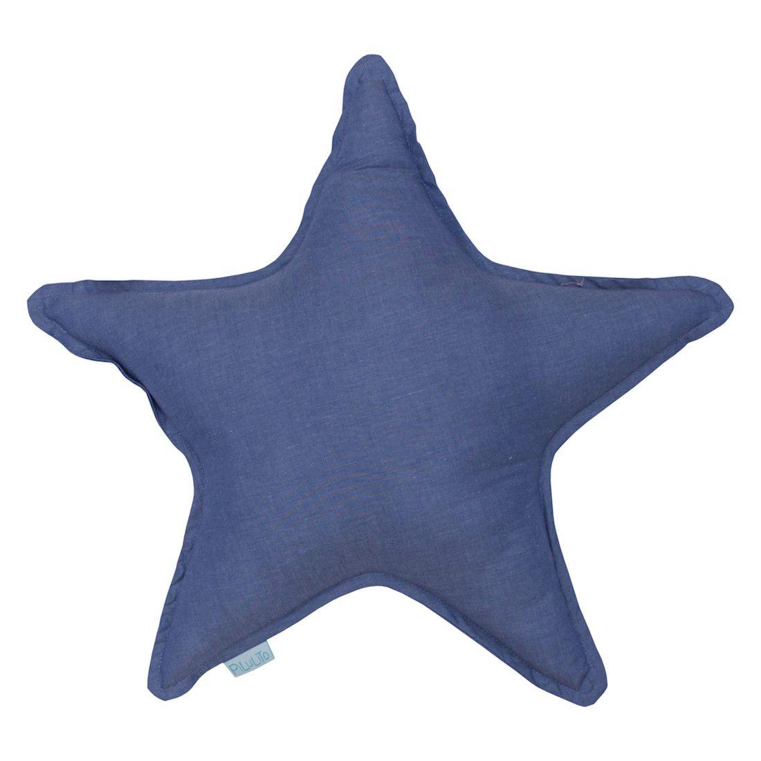 Almofada estrela azul jeans