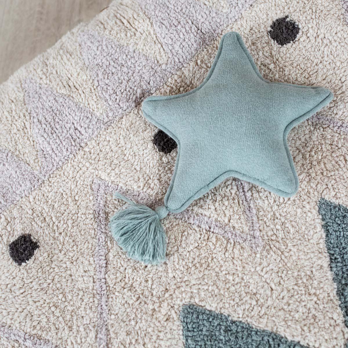 Almofada Lorena Canals Brilha Estrelinha Azul soft 25 x 25 cm