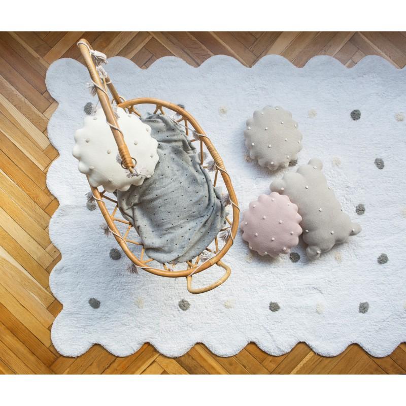 Almofada Lorena Canals Galletita Dune White 25 x 25 cm