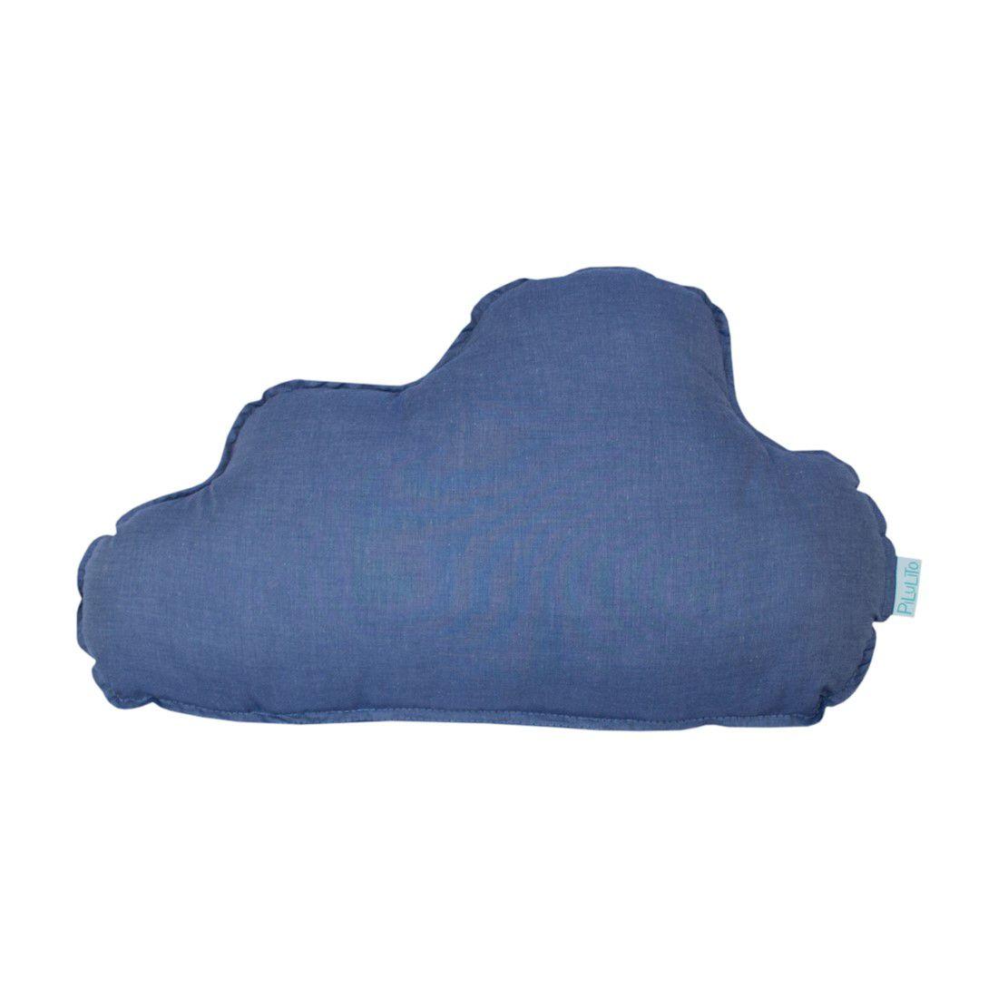 Almofada nuvem grande azul jeans