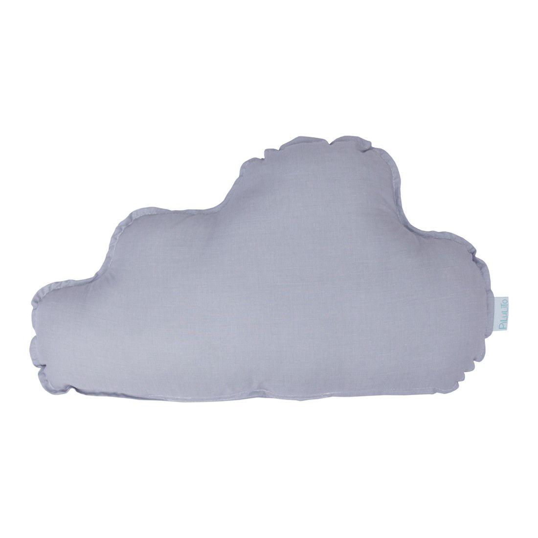 Almofada nuvem grande cinza névoa