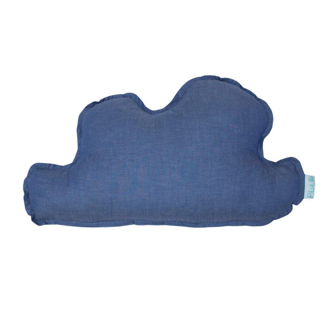 Almofada nuvem pequena  azul jeans