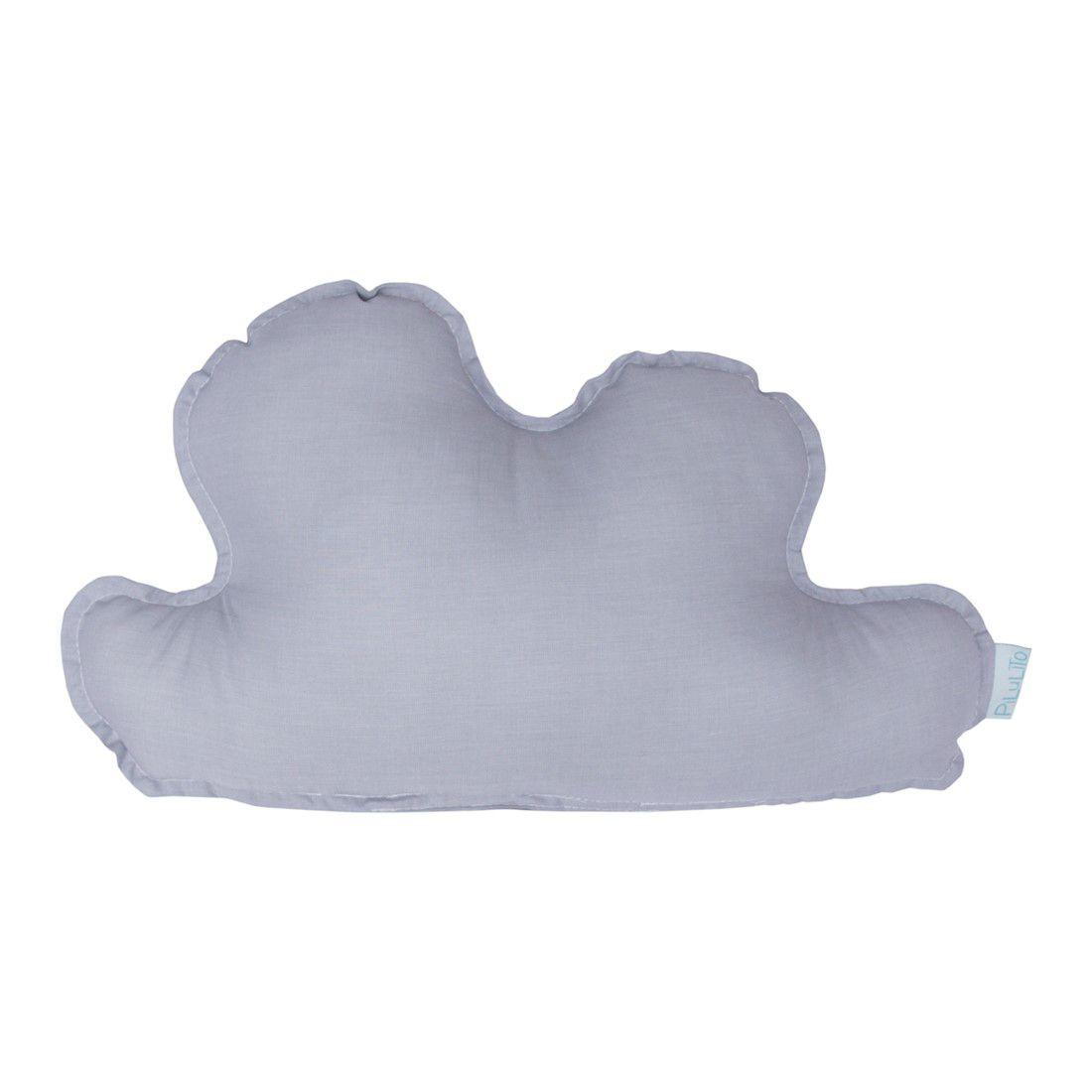 Almofada nuvem pequena  cinza névoa
