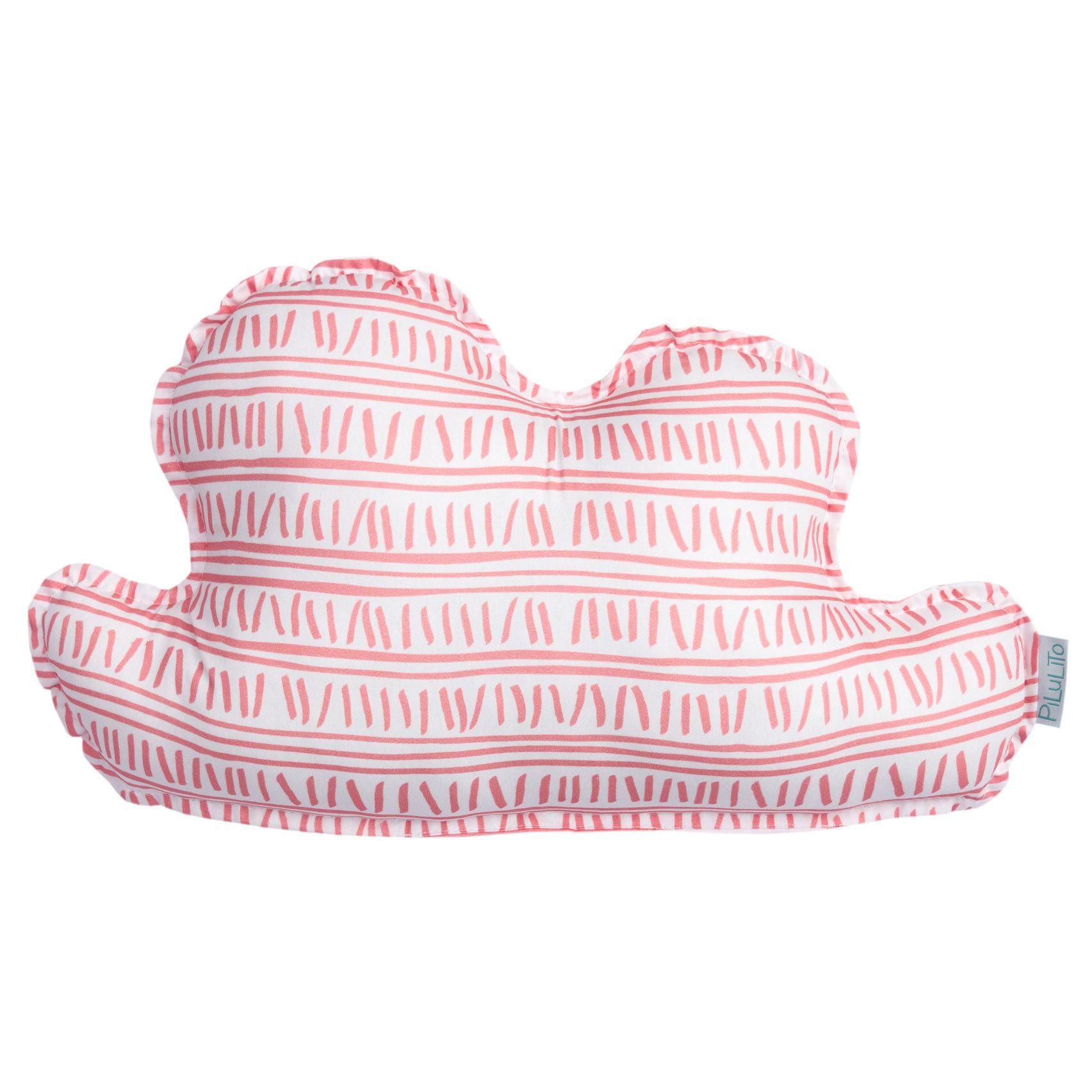Almofada nuvem pequena trilha rosa