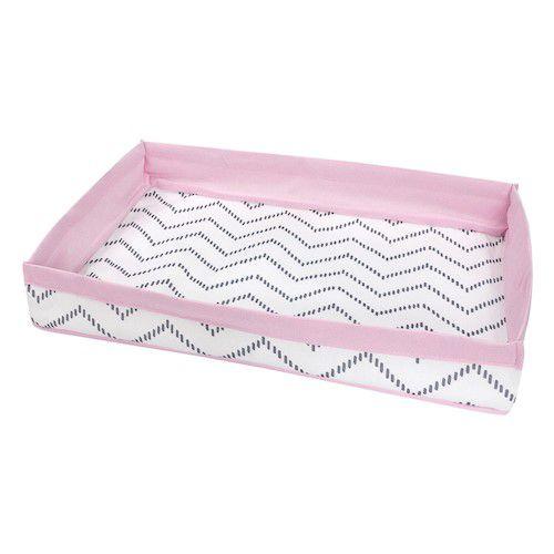 Bandeja chevron cinza com rosa claro