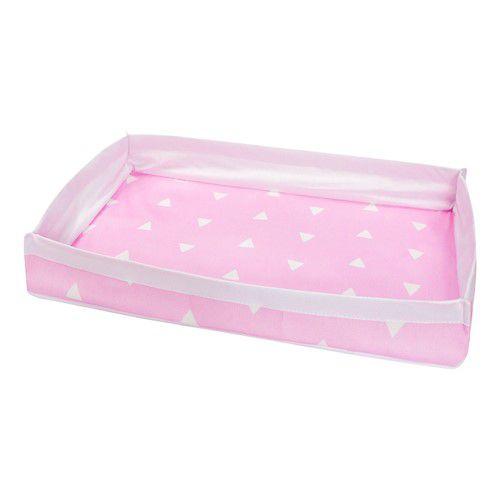 Bandeja triângulos rosa claro com branco
