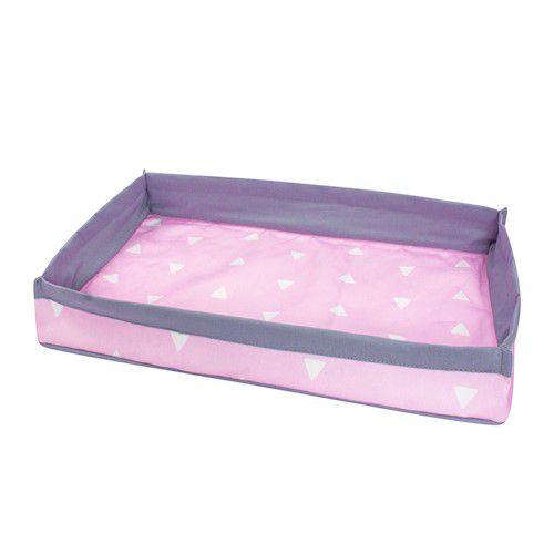 Bandeja triângulos rosa claro com cinza
