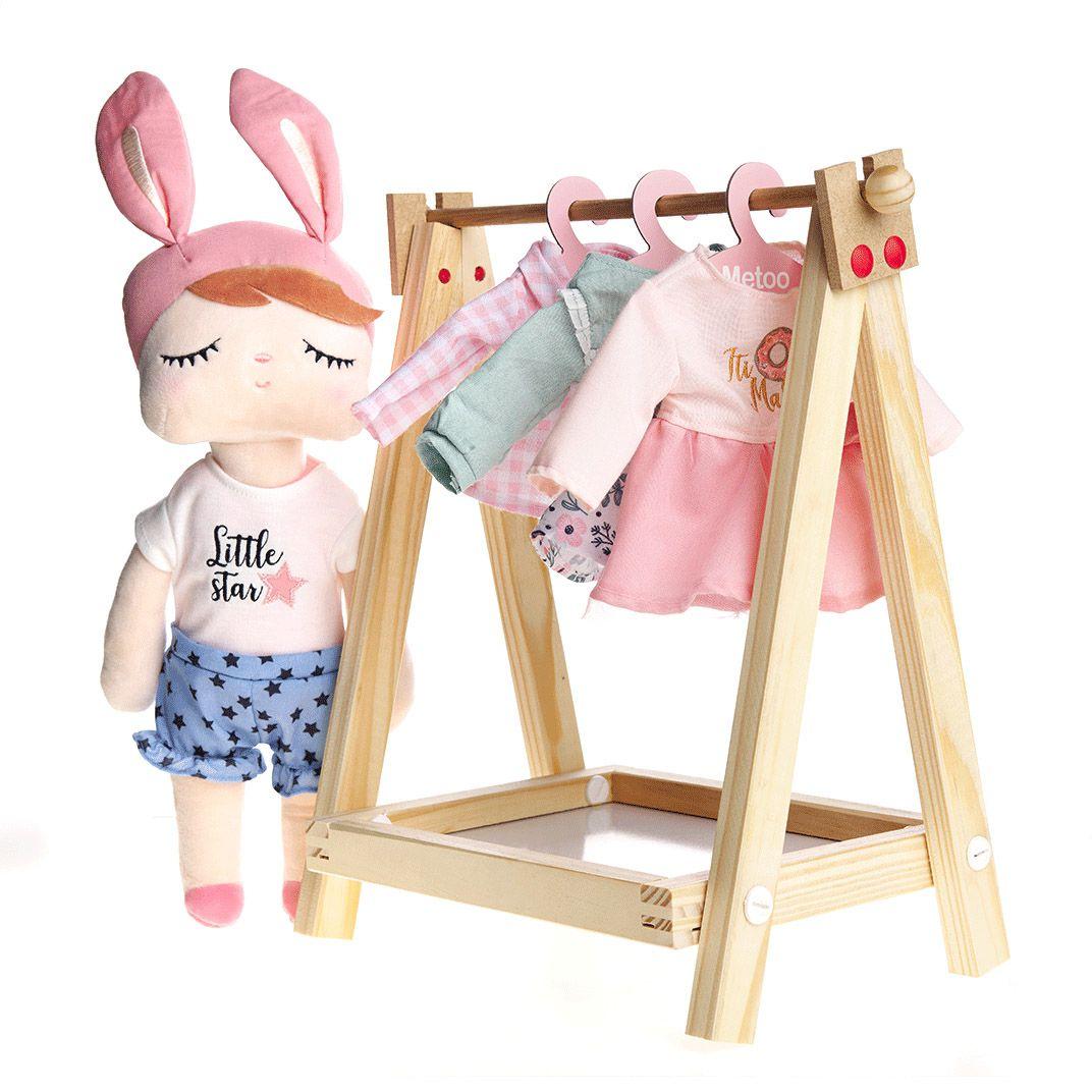 Cabideiro Bup Baby Para Roupas De Boneca Metoo Fashion