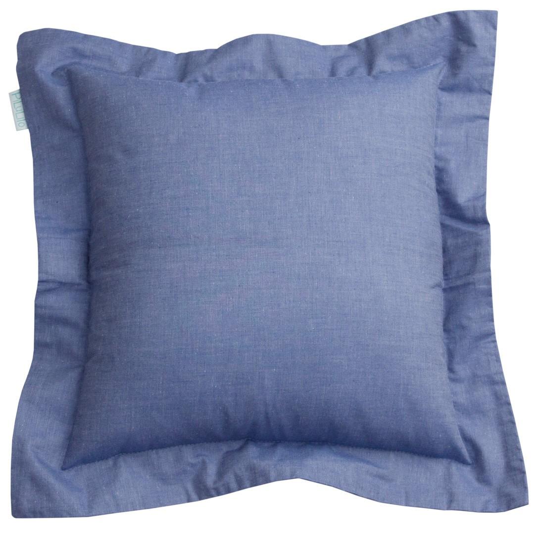 Capa de almofada 40x40cm azul jeans