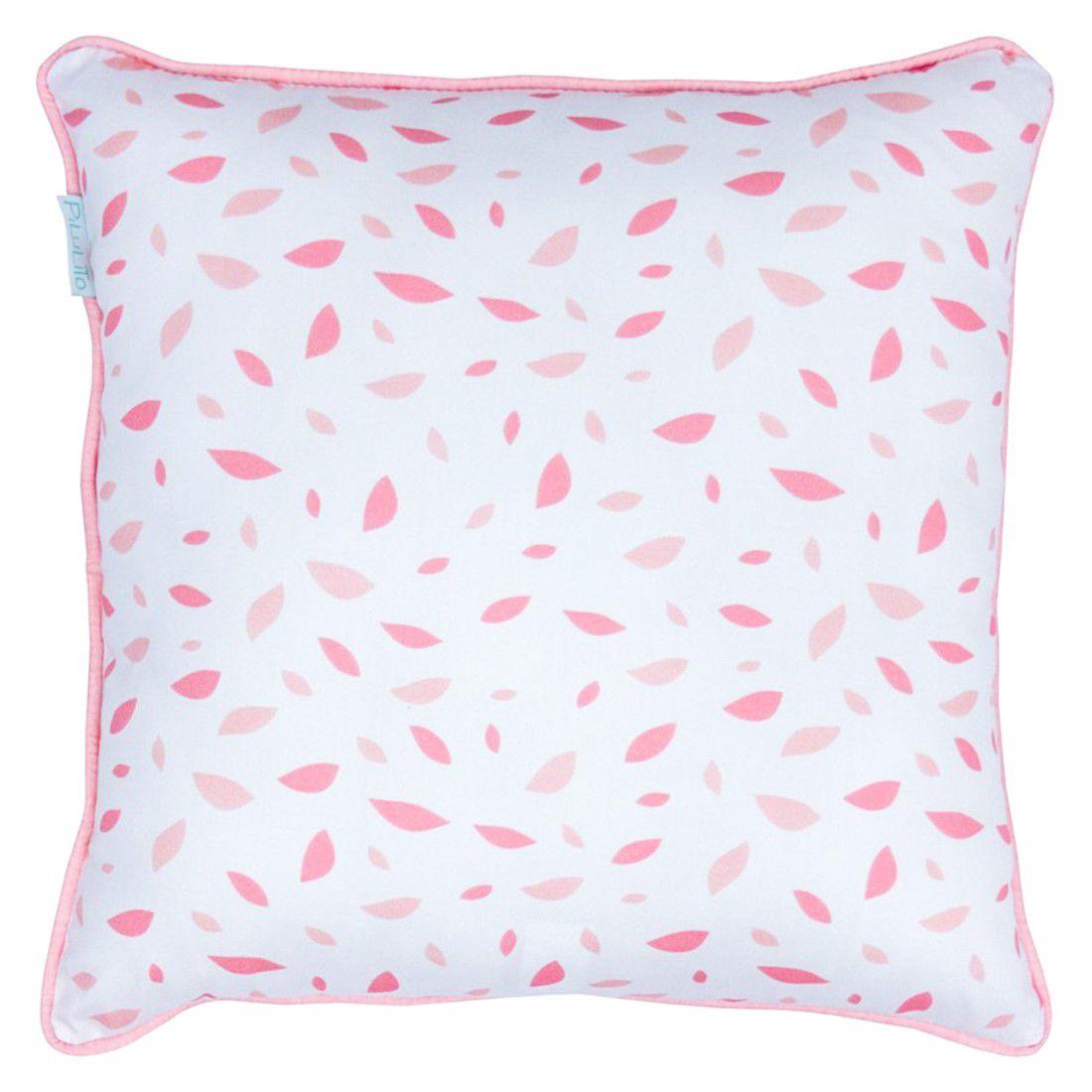 Capa de almofada 40x40cm chão de folhas rosa chá