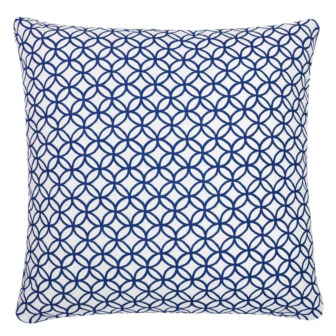 Capa de almofada 40x40cm círculos azul marinho