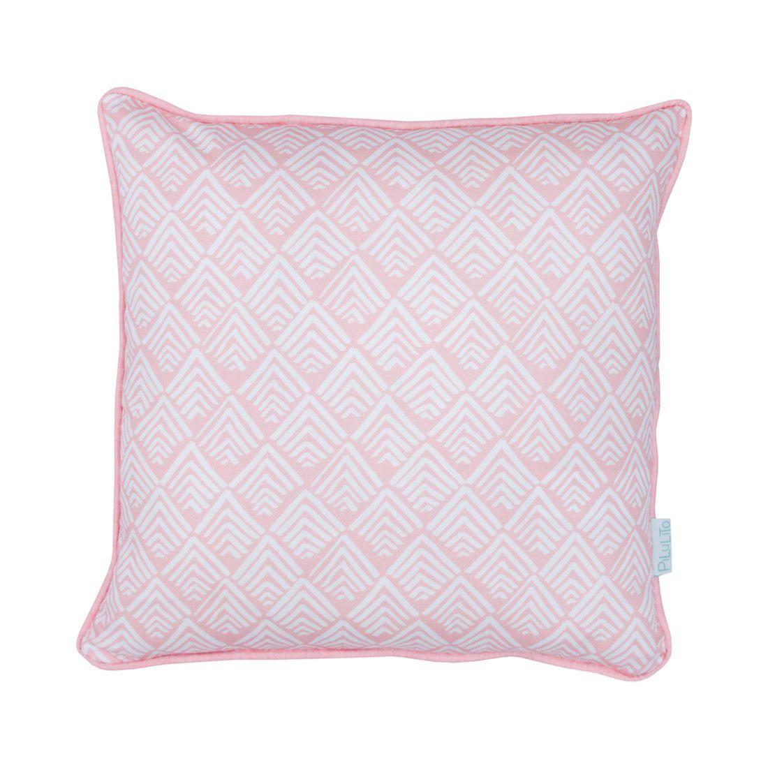 Capa de almofada 40x40cm oca rosa chá