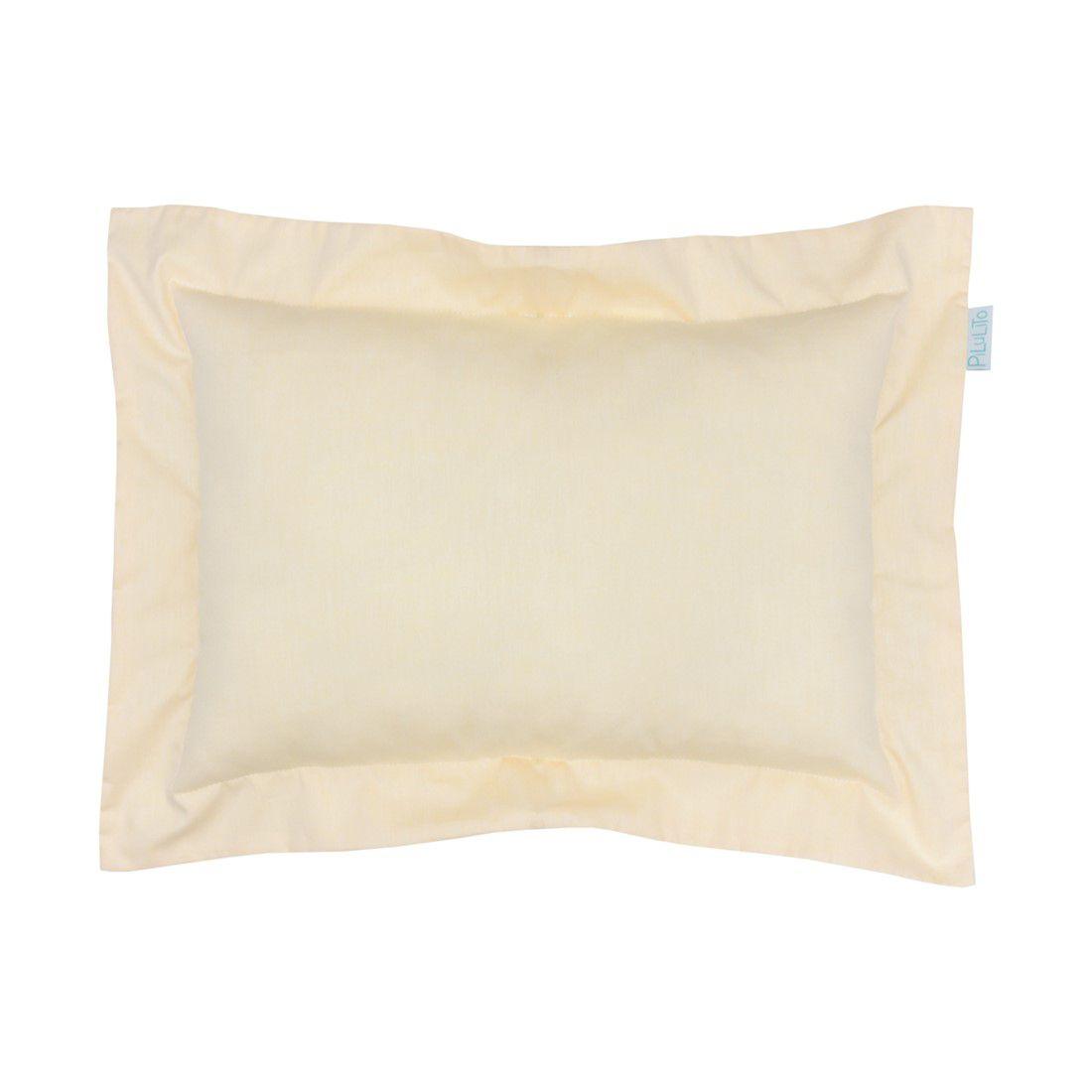 Capa de almofada 45x30cm amarelo suave