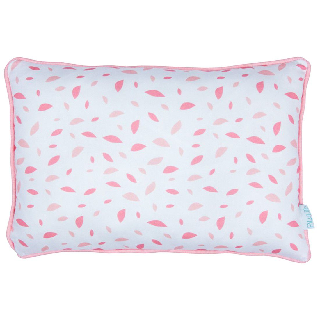 Capa de almofada 45x30cm chão de folhas rosa chá